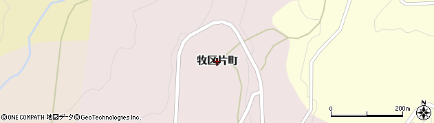 新潟県上越市牧区片町周辺の地図