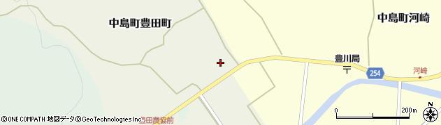石川県七尾市中島町豊田町(ル)周辺の地図