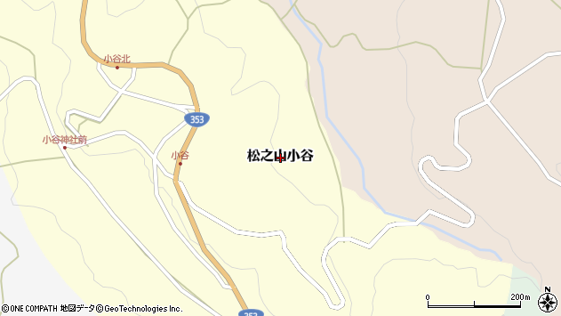 〒942-1402 新潟県十日町市松之山小谷の地図