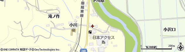 福島県いわき市小川町西小川(上居合)周辺の地図