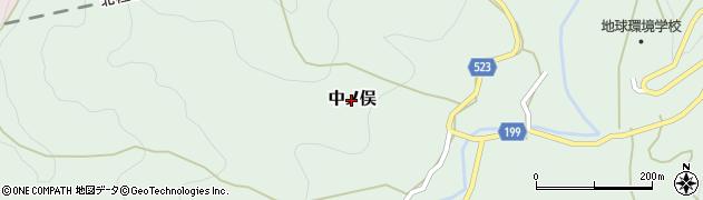 新潟県上越市中ノ俣周辺の地図