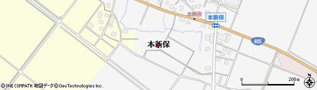 新潟県上越市本新保周辺の地図