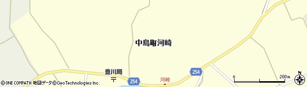石川県七尾市中島町河崎周辺の地図