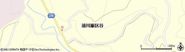 新潟県上越市浦川原区谷周辺の地図
