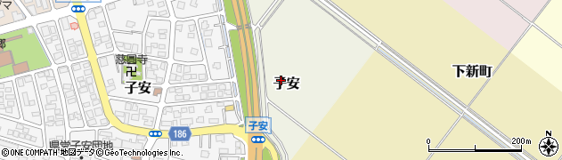 新潟県上越市子安周辺の地図