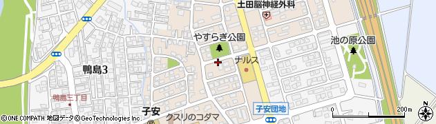 新潟県上越市子安新田周辺の地図
