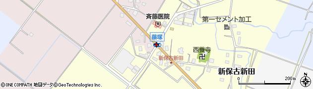 藤塚周辺の地図