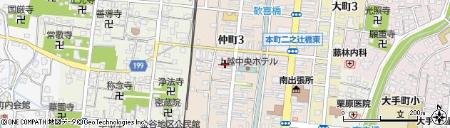 新潟県上越市仲町周辺の地図