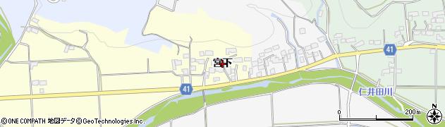 福島県いわき市四倉町上柳生(宮下)周辺の地図