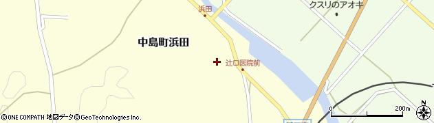 石川県七尾市中島町浜田(ラ)周辺の地図