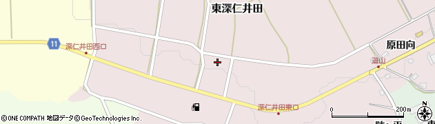 福島県白河市東深仁井田(滝下)周辺の地図