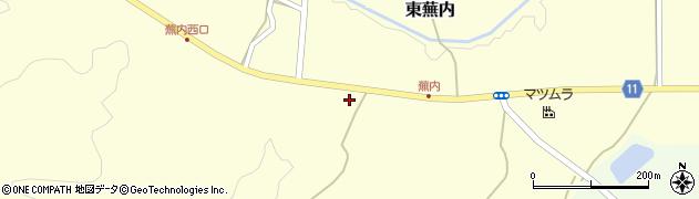 福島県白河市東蕪内(南屋敷)周辺の地図