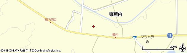 福島県白河市東蕪内(屋敷前)周辺の地図