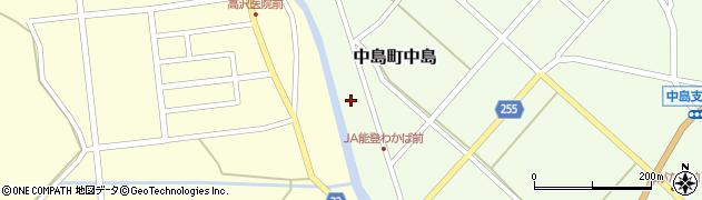石川県七尾市中島町中島(甲)周辺の地図