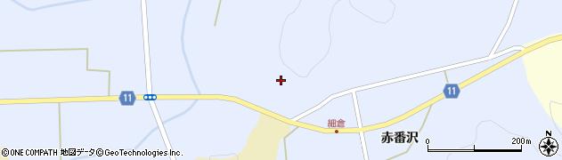 福島県白河市借宿親地周辺の地図