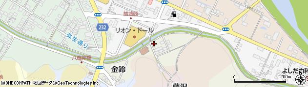 福島県白河市金鈴周辺の地図