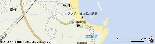 波立寺周辺の地図
