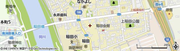 新潟県上越市稲田周辺の地図