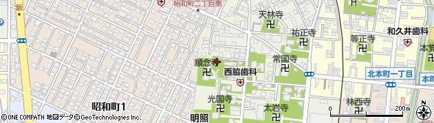 念妙寺周辺の地図