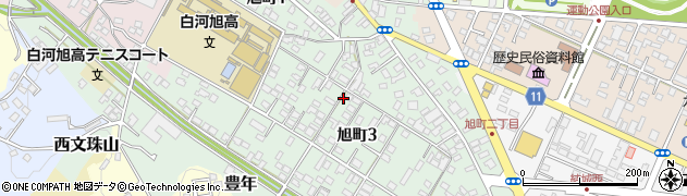 福島県白河市旭町周辺の地図