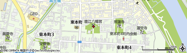 直江八幡宮周辺の地図