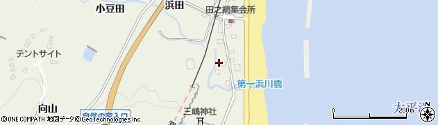 福島県いわき市久之浜町田之網(浜田)周辺の地図