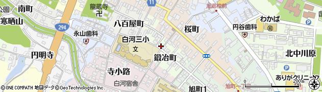 福島県白河市鍛冶町周辺の地図