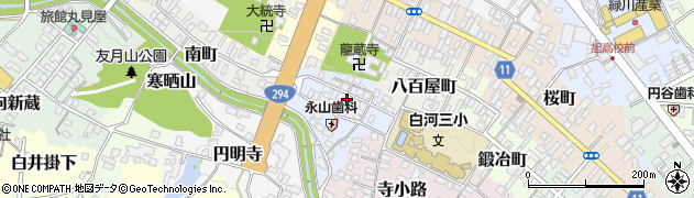 福島県白河市束前町周辺の地図