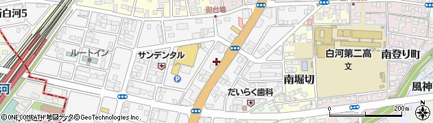 福島県白河市新白河周辺の地図