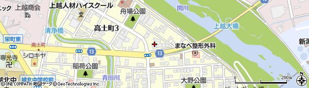 新潟県上越市高土町周辺の地図