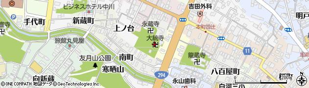 大統寺周辺の地図