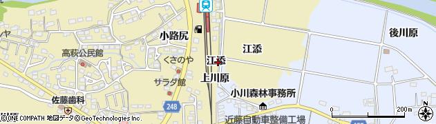 福島県いわき市小川町三島(江添)周辺の地図