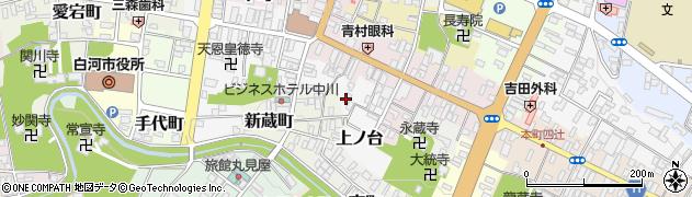 福島県白河市上ノ台周辺の地図
