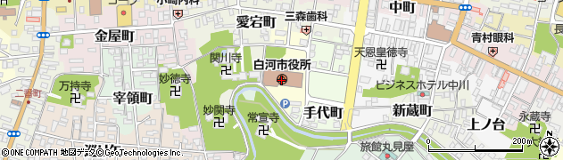 福島県白河市周辺の地図