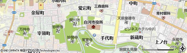 白河市役所 記者クラブ周辺の地図