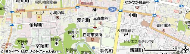 福島県白河市八幡小路周辺の地図