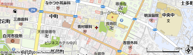 福島県白河市本町北裏周辺の地図