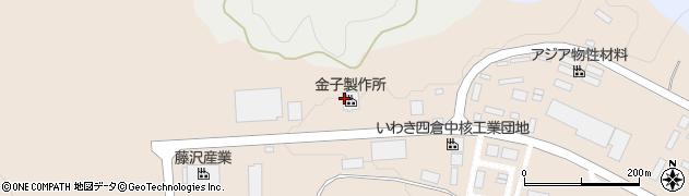 株式会社金子製作所 いわき工場周辺の地図