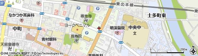 福島県白河市横町周辺の地図