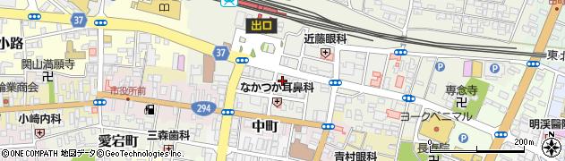 福島県白河市大手町周辺の地図