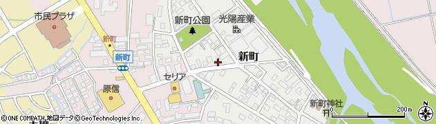 新潟県上越市新町周辺の地図