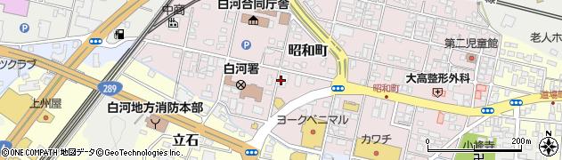 理容プラージュ白河店周辺の地図