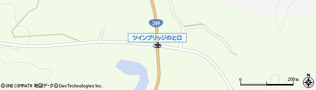 ツインブリッジのと口周辺の地図