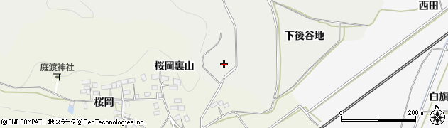 福島県白河市萱根(上後谷地)周辺の地図