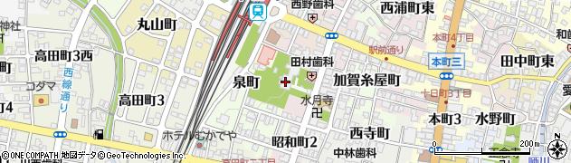智泉寺周辺の地図