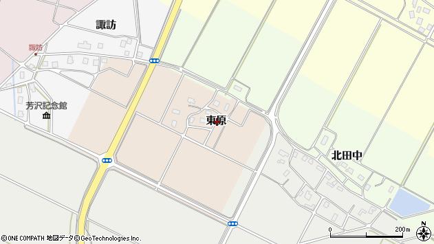 〒943-0105 新潟県上越市東原の地図