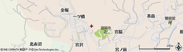 福島県いわき市小川町柴原(一ツ橋)周辺の地図