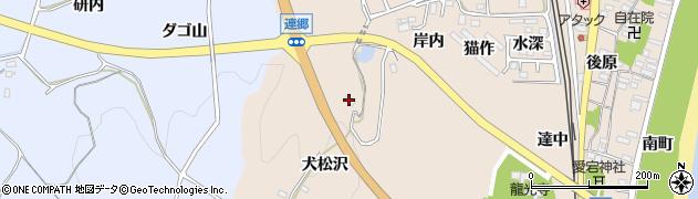 福島県いわき市久之浜町久之浜(犬松沢)周辺の地図