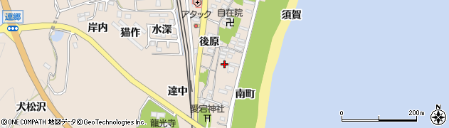 福島県いわき市久之浜町久之浜(南町)周辺の地図