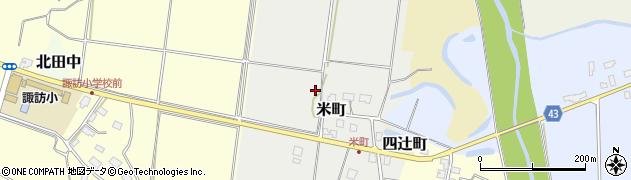 新潟県上越市米町周辺の地図